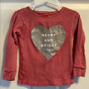 Carter's Merry and Bright Red Christmas Shirt 3T